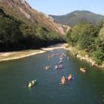 Turismo activo - descenso en canoa
