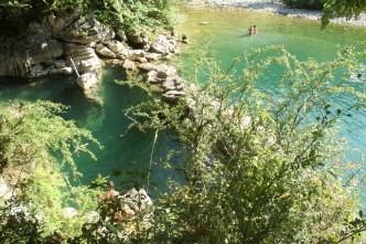 Poza en el río Dobra