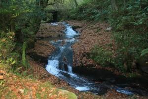 Uno de los saltos de agua de la ruta del Río Infierno