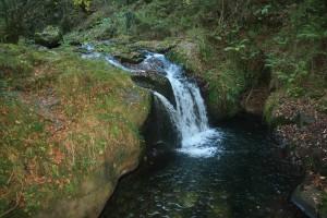 Salto de agua en el río Infierno